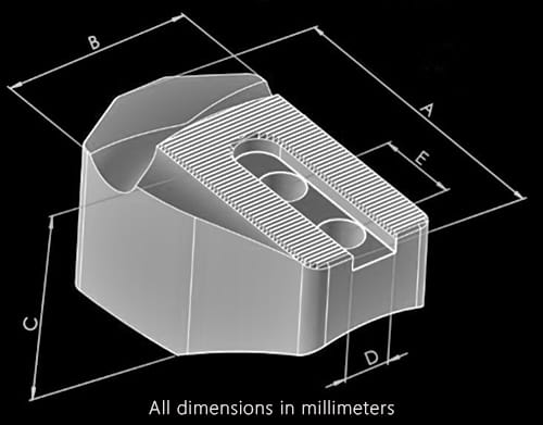 Jaws dimensions chart